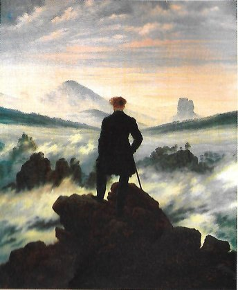 Wanderer above the Sea of Fog - painting